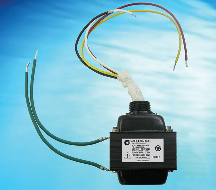 30VA Low Voltage Class 2 Transformer (UL 506, UL 1585, UL 5085) exceeds Energy Star requirements and Level V efficiency standard, model GT-73107-3024.