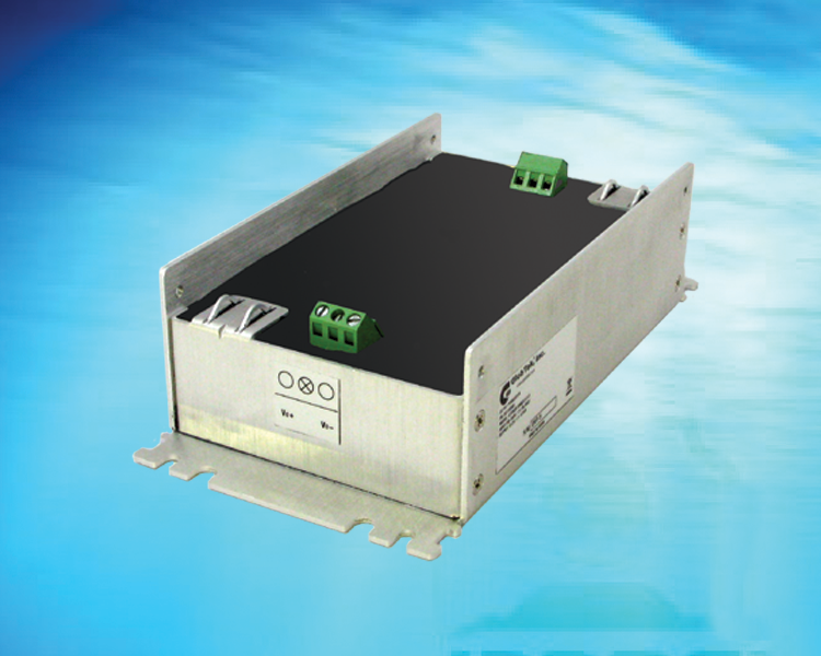 Very Wide Input Range 1:6 DC/DC Converter provides 60W (Watts) of DC output from an input voltage of 9-60VDC, an ideal solution for automotive and train/railway applications, Model GTD93035L6013.2-F(R)