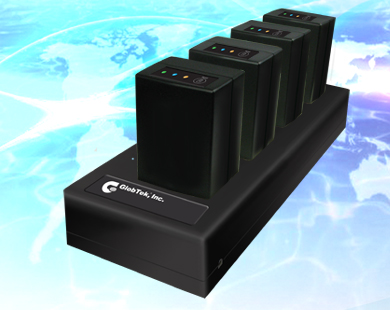 4 Bay Lithium Iron Phosphate Battery (LiFePO4) Multi Position Charger for use in charging 4 independent GlobTek Lithium Iron Phosphate battery packs. The charger features 4 independent charging circuits,...