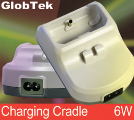 Desktop Charging Cradles meet international Class II, Double-Enforced Insulation Mechanical Configurations, Regulated Output voltage from: 5V to 48Vdc in 0.1V increment, up to 6W of continuous output power.