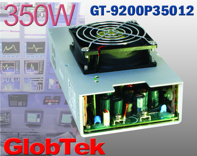 Available in versions providing a continuous regulated output at up to 350W, GlobTek's GT(M)200P350 family of power supplies delivers from 3.3V to 48.0V (in 0.1V increments) to serve demanding devices...