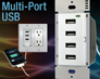 Multi-Port Wall Supply Serves Multiple USB-Driven Devices
