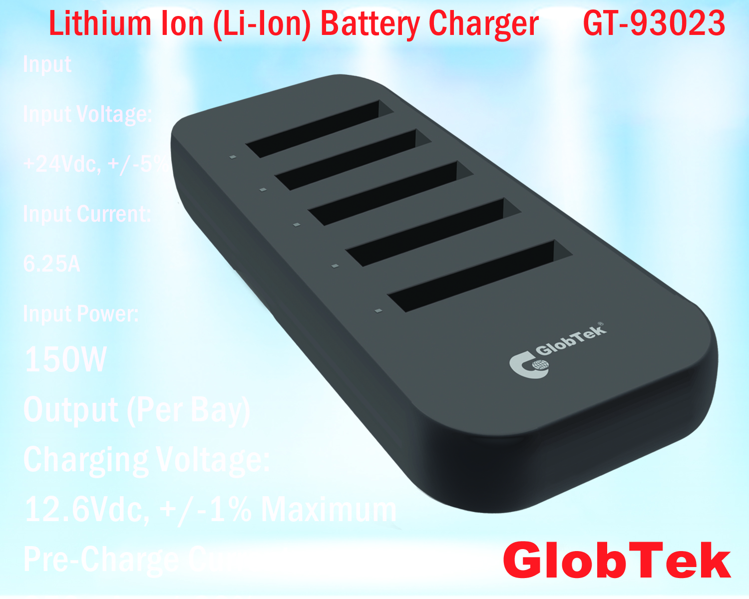 New Products Globtek Power Supplies Gt Chargers Low Voltage Dc Charger Circuit Lithium Ion Li Batteri Laddare